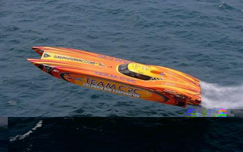 Powerboat race op Schiphol