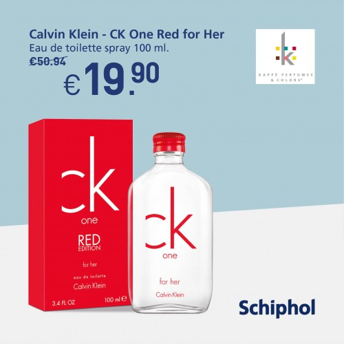 Special offer: Calvin Klein for her. Now available for €19.90