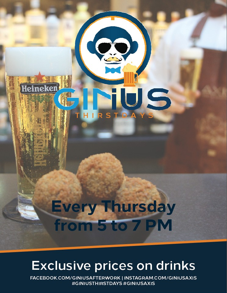 """GINius THIRSTdays"" - Every Thursday Drinks at Axis Bar"