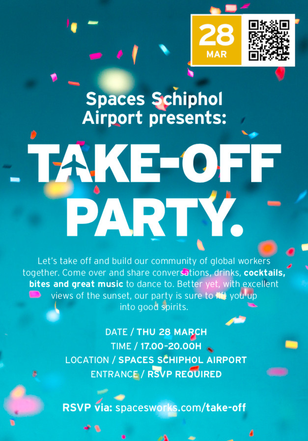Spaces Schiphol Presents: Take-off party