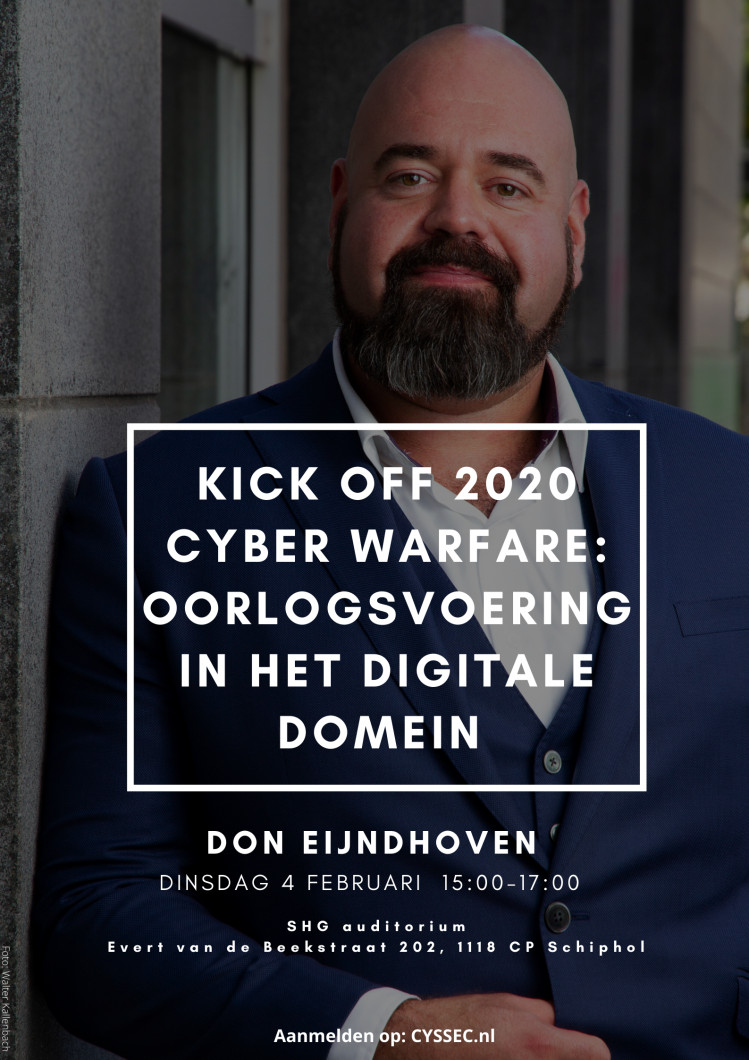 Kick off 2020 - Cyberwarfare: oorlogsvoering in het digitale domein