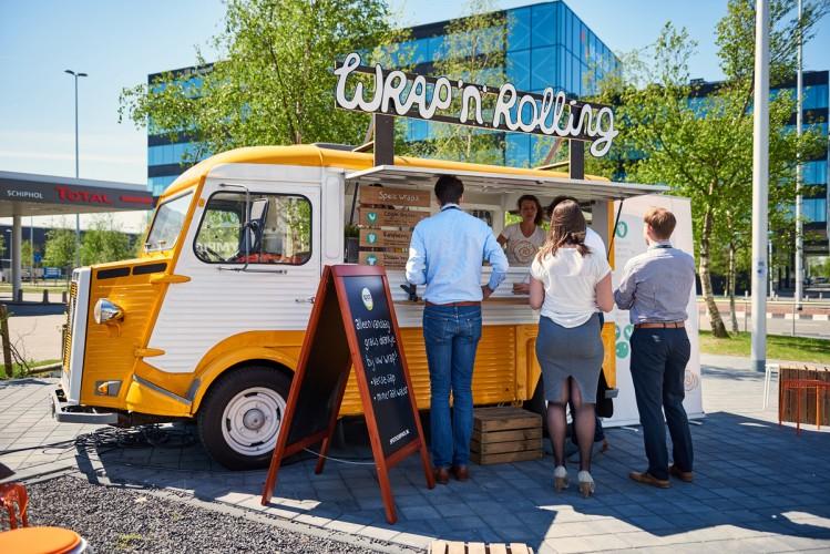 Foodtrucks op Schiphol