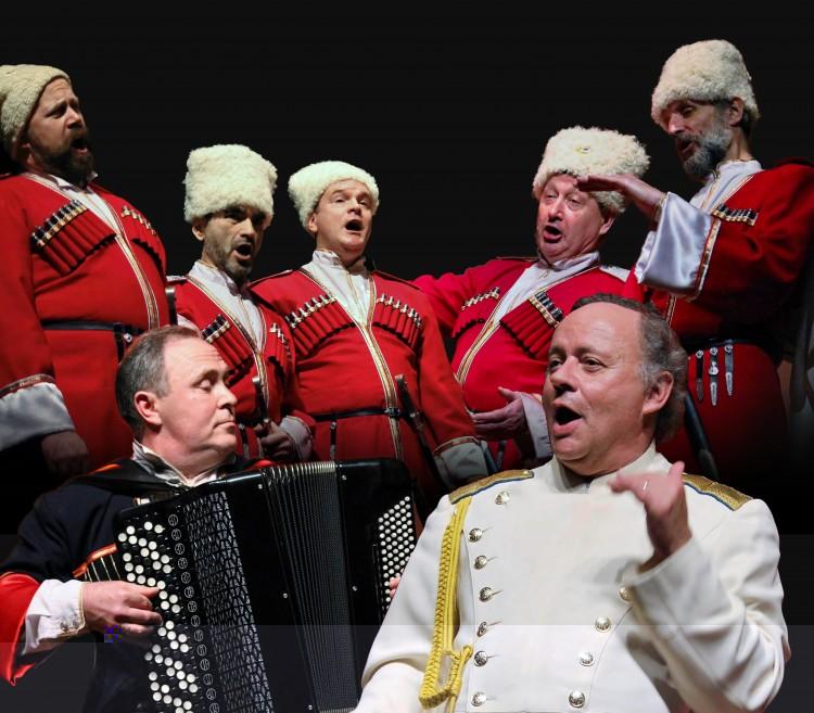 Don Kosakenchor Russland op Schiphol Plaza