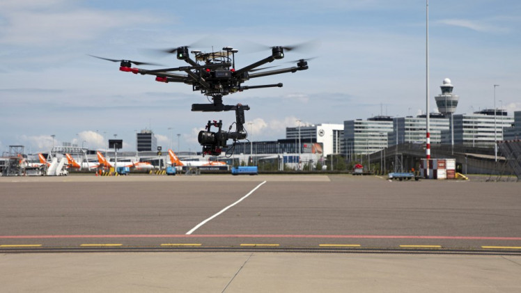 Video: Schiphol is conducting tests with drones