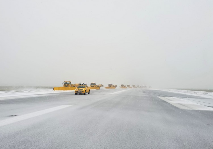 Winter weather at Schiphol