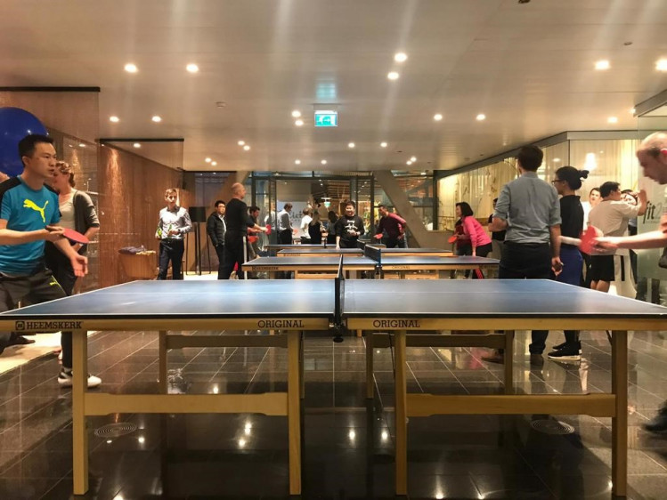 China Southern wins golden table tennis bat during WTC table tennis tournament